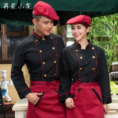Chef service hotel chef uniforms fall and winter clothes long-sleeved Western Restaurant Hotel Houchu overalls bread baking