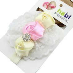Hot! Infant's Rose Flower & Crystal Headband in 4 Colors