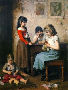 The Young Seamstress, Alexei Harlamoff. Russian (1840-1925) by leah