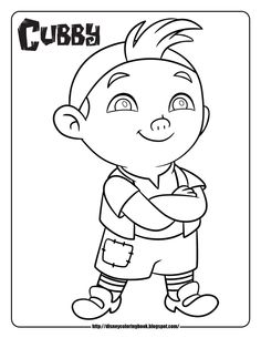 jake and the never land pirates coloring pages coloring sheets cubby - Kids Colouring Pages To Print