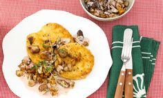 Sellerieschnitzel mit Pilzragout | Rama Cremefine