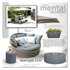 """Relax"" by cruzeirodotejo ❤ liked on Polyvore featuring interior, interiors, interior design, home, home decor, interior decorating, Sunbrella, Smith & Hawken, Bloem and garden"