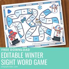 Grab this editable winter sight word game and use it in your classroom for independent learning that is fun and hands on! You can choose up to 24 sight words and the kids can play 2 different ways! Ideal for literacy center or word work in kindergarten or first grade.