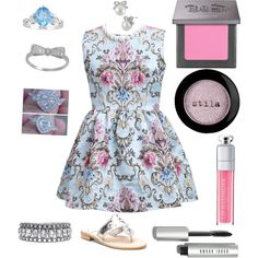 Untitled #24 by cupcakes13h on Polyvore featuring polyvore fashion style Jack Rogers Ice Towne & Reese Betsey Johnson Christian Dior Bobbi Brown Cosmetics Urban Decay Stila