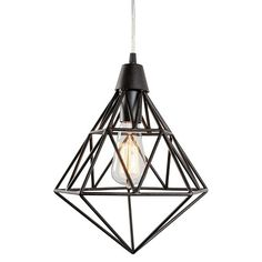 Facet 1 Light Pendant - Forged Iron