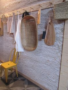 Part of the kitchen of the VT wonen barn (woonbeurs 2013) Loving the knitted wallpaper!