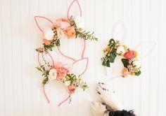 DIY Floral Bunny Ears