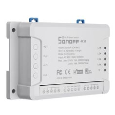 SONOFF® 4CH R2 4 Channel 10A 2200W 2.4Ghz Smart Home WIFI Wireless Switch APP Remote Control AC 90V-250V 50/60Hz Din Rail Mounting Home Automation Module Sale - Banggood.com App Remote, App Support, Countdown Timer, 4 Channel, Photography Camera, Home Automation, Smart Home, Consumer Electronics, Wifi