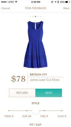 Brixon Ivy James Laser Cut Dress