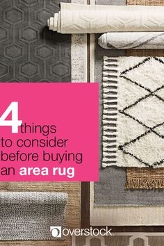 Whether it's the focal point of the room or a neutral base to highlight your decor, choosing the right area rug will bring harmony to your interior design. Before you start shopping for rugs, take a moment to assess the size of your room. This will help ensure that the rug is neither too big nor too small for your intended space. Let our Area Rug Size Guide guide help make your choice easier! Shop Area Rugs and more at Overstock.com.