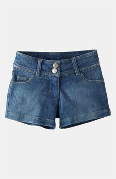 Mini Boden Heart Pocket Denim Shorts (Toddler, Little Girls & Big Girls) available at #Nordstrom