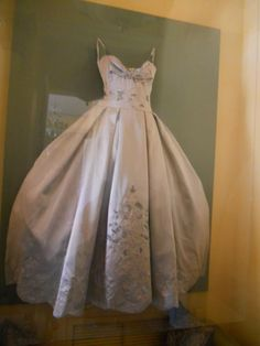 Adrienne Maloof's dress again. Here you can really see how well it was done. They built a glass box around the dress so the glass doesn't squash it.