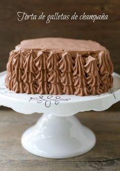 Torta de galletas de champaña / Ladyfingers cookie cake | En mi cocina hoy