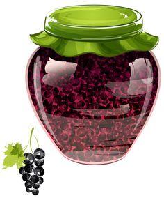 "Photo from album ""Варенья, соленья"" on Yandex. Grape Jam, Grape Jelly, Jam And Jelly, Decoupage, Owl Clip Art, Food Clipart, Jar Art, Country Art, Fruit Art"