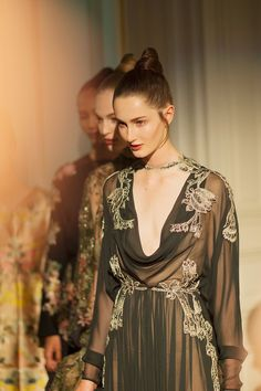 Backstage at Valentino couture fall/winter 2012