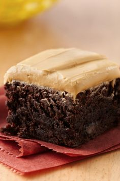 """Dulce means """"sweet,"""" but that's just half the story with this unique brownie recipe. Chipotle chile powder and cinnamon add a spicy kick to the rich chocolate flavor of Betty's chocolate chunk brownie mix, and it's all topped with a dulce de leche frosting. Make these unexpected treats for a Cinco de Mayo celebration, or any time you want to mix up your dessert rotation."""