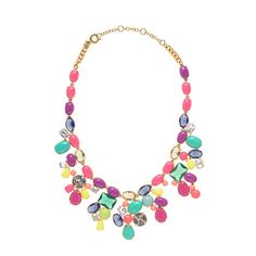jcrew colorful necklace with a white tee