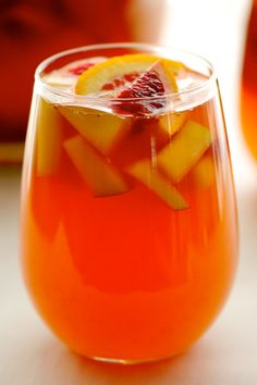 Blood Orange Sangria nice orange drink for Halloween if you can find blood oranges at that time of year