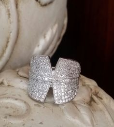 Now on Mega Sale! Stylish 925 Sterling Silver Brilliant Cut Micro Pave Ring. Free Shipping! Delivery 3 -7 days. from Shopiton Pave Ring, Druzy Ring, Shop Till You Drop, Jewelry Watches, Delivery, Free Shipping, Sterling Silver, Stylish, Store