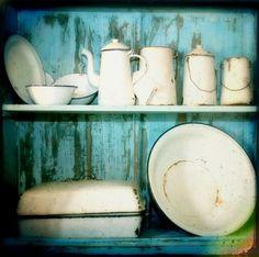 vintage enamel collection