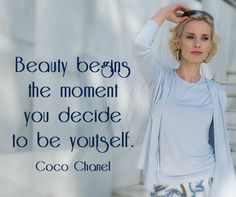 Beauty begins the moment you decide to be yoursel. #inspiration #quote #bevonboch