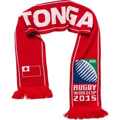Tonga - Rugby WC 2015 Scarf Ideal Gift for all Rugby Fans Scarf Dimensions x approx Brand New with Tags - Header Card Official Licensed Irb Rugby, Rugby World Cup, Tonga, Header, Fans, Brand New, Gift, Shopping, Fan
