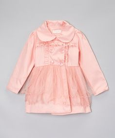 Look at this #zulilyfind! Pink Tutu Coat - Infant, Toddler & Girls by Little Miss Fairytale #zulilyfinds