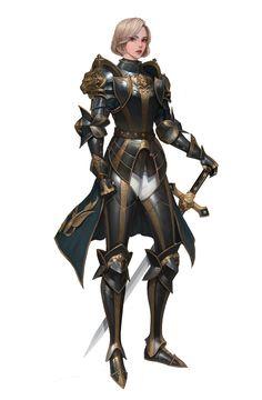 Fantasy Female Warrior, Female Armor, Female Knight, Fantasy Armor, Fantasy Girl, Dungeons And Dragons Characters, Fantasy Characters, Female Characters, Inspiration Drawing