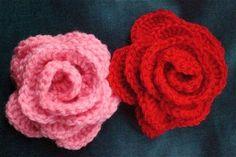 Crocheted Flowers - Roses
