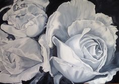 """""""Seventeen Miles"""" 2015, oils on linen. First grisaille layer of this 60x90cm Rose canvas"""