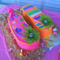 Maybe a cake idea for Madison's 10th birthday. She wants a pool party so why not make it luau themed