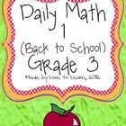 This 24 page packet by Love to Learn contains 20 days of Back to School Daily Math for Third Grade students. These sheets are aligned with Second g...