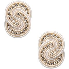 Dori Csengeri Earrings featuring polyvore, fashion, jewelry, earrings, ivory, ivory jewelry, ivory earrings and dori csengeri