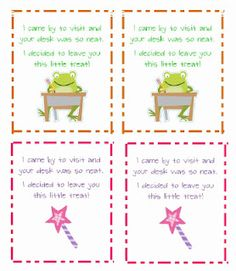 Classroom Freebies: Clean Desk Notes...perfect for those kiddos who struggle with keeping their area neat!