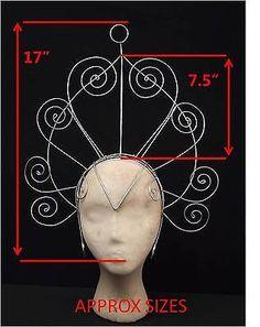 Samba Carnival Showgirl Headdress Frame Swirls
