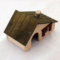 Nagerzubehör Holzhaus für Mäuse oliwka 13,5 x 8 x 8 cm