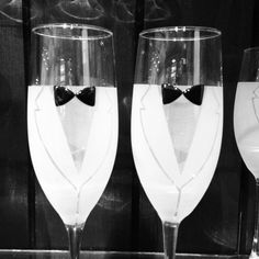 gay wedding toasting flutes   Champagne Glasses - Cute!