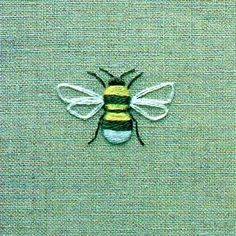 embroider a bee on linen by Townmousekimberbell machine embroidery designs mug rugs .Learn Embroidery Digitizing Tried and Trusted, CLICK VISIT BUTTON ABOVE! embroidery digitizing software for macEmbroidered bee, symbol of Manchester. French Knot Embroidery, Japanese Embroidery, Hand Embroidery Stitches, Silk Ribbon Embroidery, Cross Stitch Embroidery, Machine Embroidery, Embroidery Techniques, Embroidery Needles, Embroidery Patches