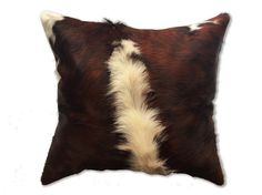 Cowhide pillow for home decor. Authentic cow hide by CamuDecor