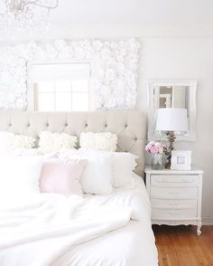 35 Remarkably Pretty Shabby Chic Bedroom Design And Decor Ideas Cool Teen Bedrooms, Pink Bedrooms, Shabby Chic Bedrooms, Shabby Chic Homes, Beautiful Bedrooms, Girls Bedroom, Ivory Bedroom, Bedroom Rustic, Small Bedrooms