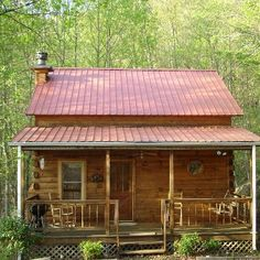 Log Cabin -perfect retirement home for me so I can hear the rain on the roof
