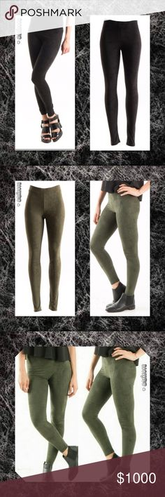 JUST IN🆕Black Suede Full Length Leggings New Faux Suede Leggings  Fitted legging. Elastic at waist. This legging is made with light weight, faux suede fabric that is very soft and has excellent stretch. Material: Fabric 90% Polyester, 10% Spandex Made in U.S.A Color: Black, Olive Sizes Avail: Small, Medium, Large Fits true to size  💠💠PRICE FIRM UNLESS BUNDLED💠💠 ⭐️⭐️SORRY NO TRADES AND LOWBALL OFFERS WILL BE IGNORED ⭐️⭐️ 🌺🌺ADDITIONAL MEASUREMENTS AVAIL UPON REQUEST 🌺🌺 Glam Squad 2…