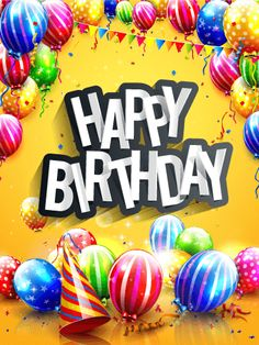 Birthday Quotes : Send Free Bright & Colorful Happy Birthday Card to Loved Ones on Birthday & Greeting Cards by Davia. Its free and you also can use your own customized birthday calendar and birthday reminders. Happy Birthday Ballons, Happy Birthday Greetings Friends, Happy Birthday Wishes Cake, Happy Birthday Text, Happy Birthday Celebration, Birthday Wishes Messages, Birthday Blessings, Happy Birthday Pictures, Birthday Posts