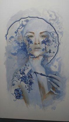 Blue Delft (Deborah Moore, Fairy Folk Originals 2017)