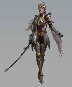 Artstation - owl knight, jae hyuck jang female fighter in 20 Fantasy Female Warrior, Female Armor, Female Knight, Fantasy Armor, Fantasy Women, Fantasy Girl, Woman Warrior, Fantasy Character Design, Character Concept