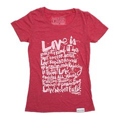 Corinthians 13 Red Women's T-Shirt | walk in love.