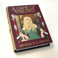 Game of Thrones - Cersei edition- hideaway book box - unique and hand-decorated. by RFabiano on Weebly