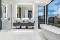 Coatesville Six on ArchiPro Contemporary Farmhouse Exterior, Modern Farmhouse Style, Modern Country, New House Plans, Modern House Plans, Australia House, Bungalow House Design, Bathroom Renos, Bathroom Ideas