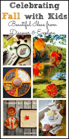 Celebrating Fall with Kids: Beautiful Ideas from Discover & Explore- Pinned by @PediaStaff – Please Visit ht.ly/63sNtfor all our pediatric therapy pins