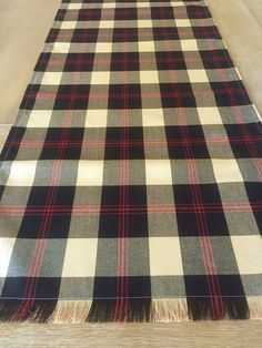 Custom Plaid Table Runner English Christmas Tablecloth By MesaChic